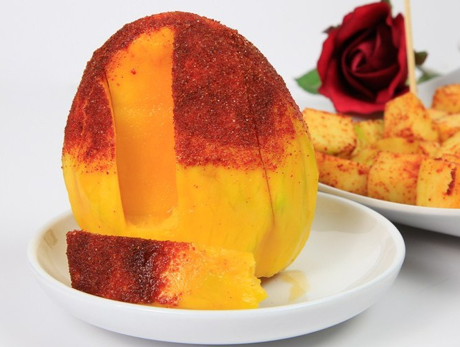 Mango with Pilipilii Masala