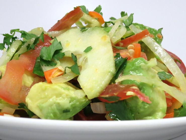 Loaded avocado salad
